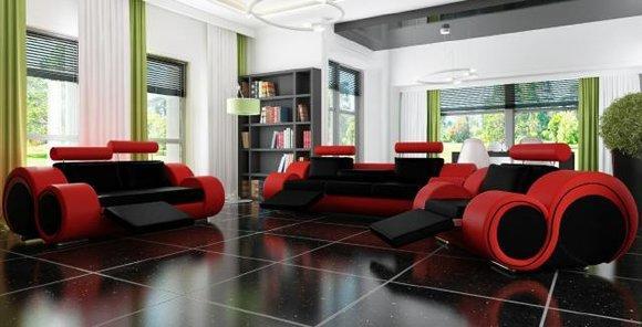 Sofa Sofagarnitur 2+2 Sitzer BERLIN Couch Polster Designer Relax Funktion LAGERWARE