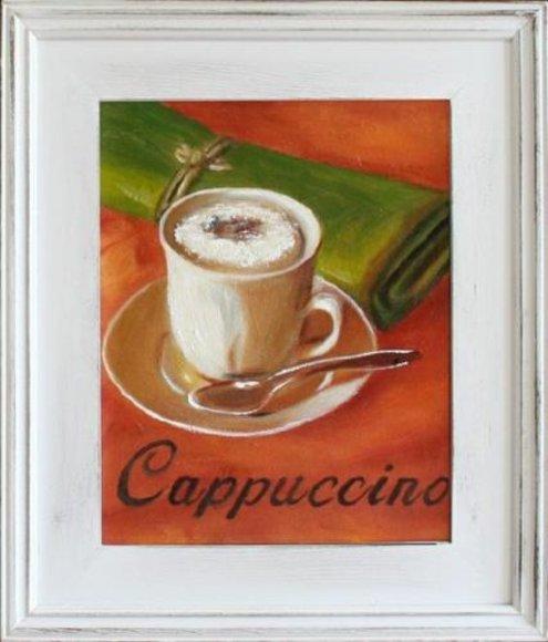 Cafe Küche Restaurant Esszimmer Bild Bilder Ölbild Gemälde Mit Rahmen - G14976