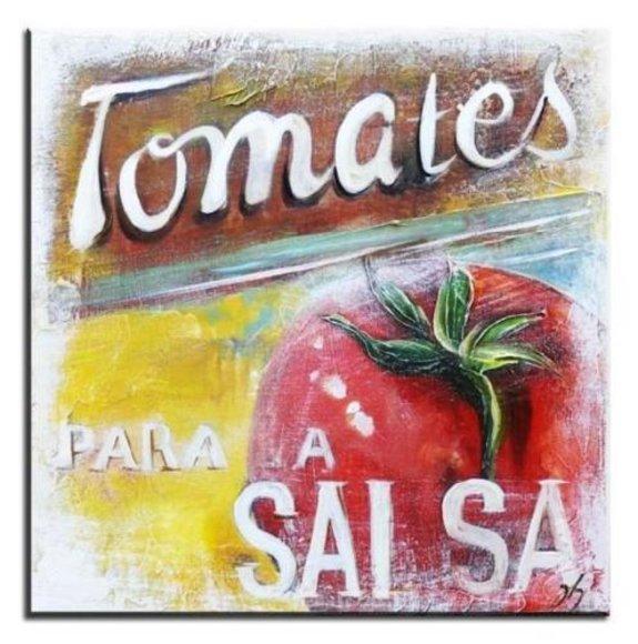 Cafe Küche Restaurant Esszimmer Bild Bilder Ölbild Gemälde Keilrahmen - G00213