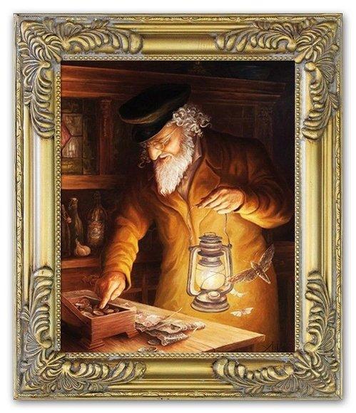Ölbild Ölbilder Gemälde Bilder Bild Handgemalt Öl mit Rahmen Barock Kunst G17812