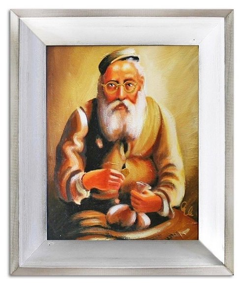 Ölbild Ölbilder Gemälde Bilder Bild Handgemalt Öl mit Rahmen Barock G06380