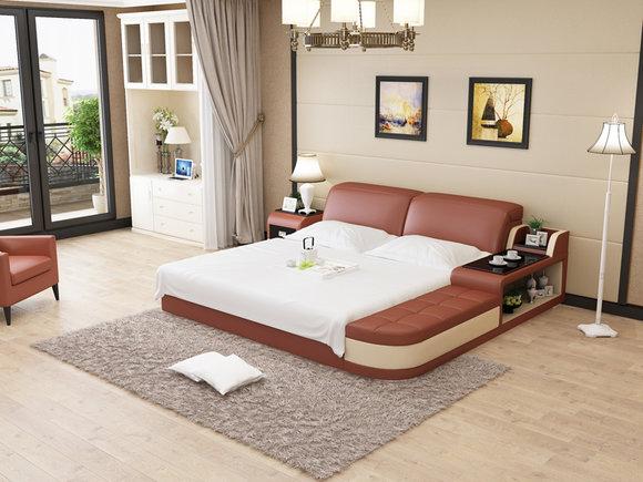 Design Leder Bett Luxus Polster Betten Doppel Modernes Ehe 140 160