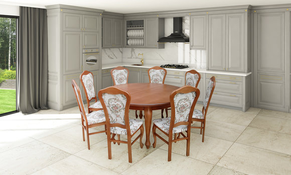 Esstisch Garnitur Tisch 8x Stuhle Stuhl Esszimmer Garnitur Rund