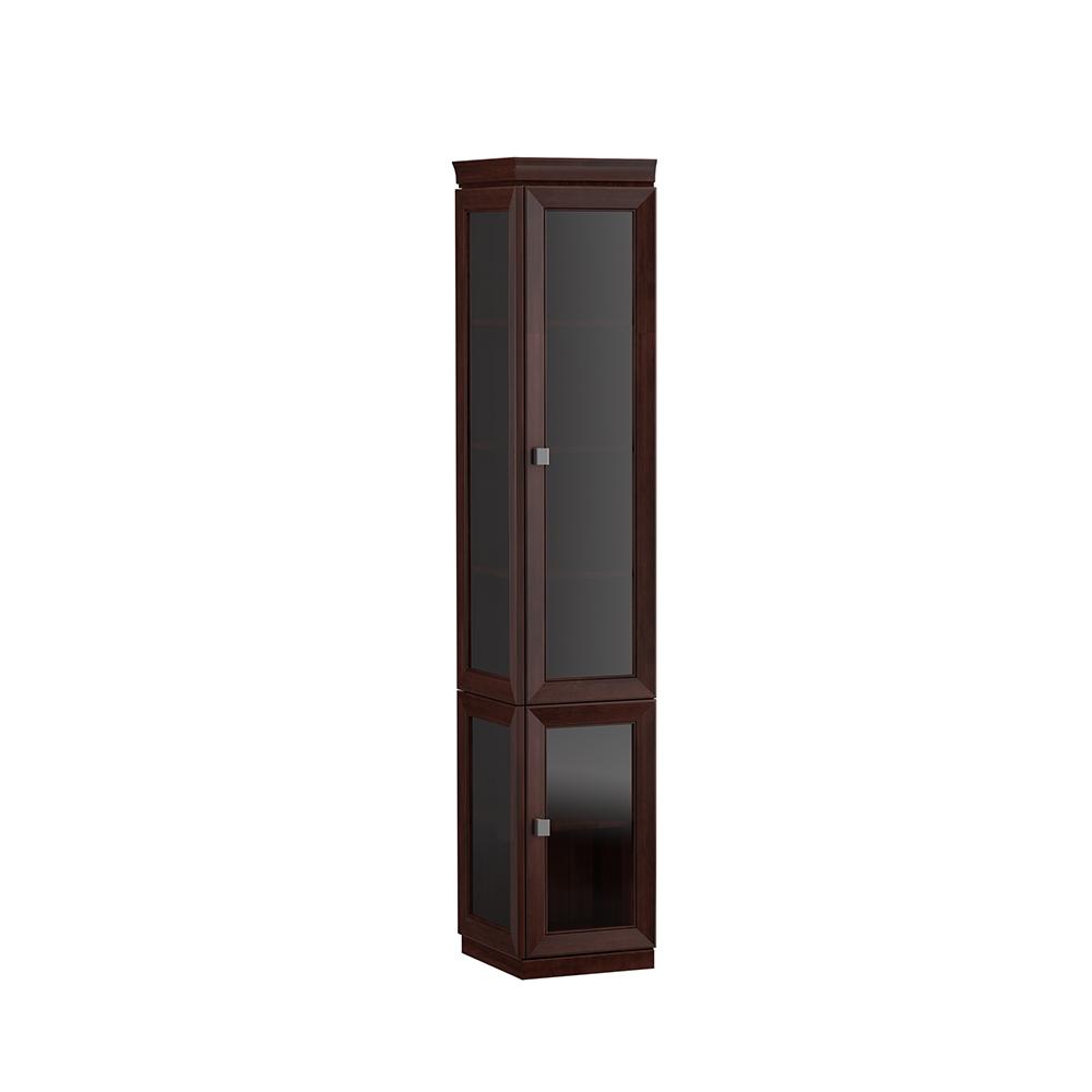 System Büro Möbel Vitrine Aktenschrank Klassischer Holz Schrank Regal Monaco M12