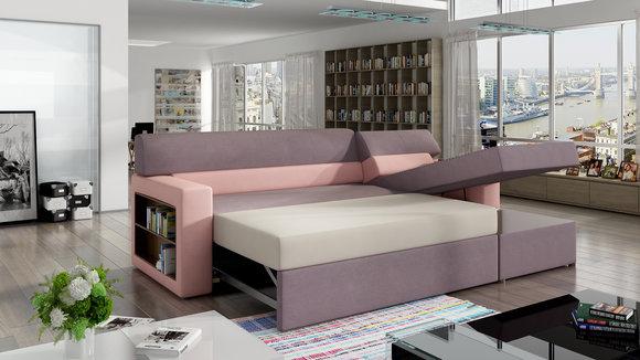 Schlafsofa Sofa Couch Polster Wohnzimmer Couch Schlaffunktion Sofas Couchen  Neu