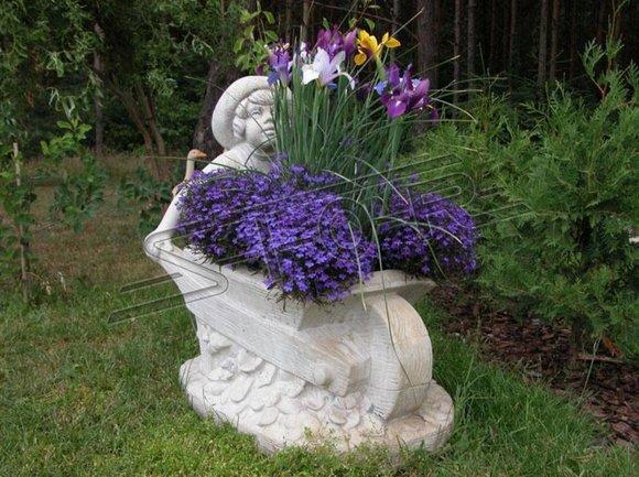 Blumenkübel Pflanz Kübel Dekoration Figur Blumentöpfe Garten Vasen Gefäss 554