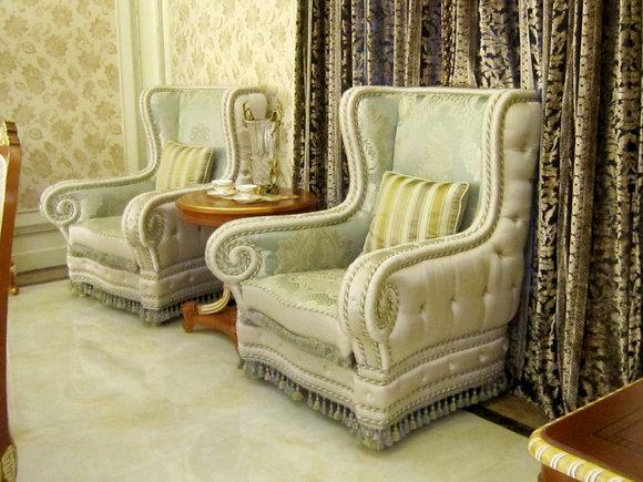 Ohrensessel Sessel Klassischer Barock Rokoko Antik Stil Sofa Fernseh Couch E55