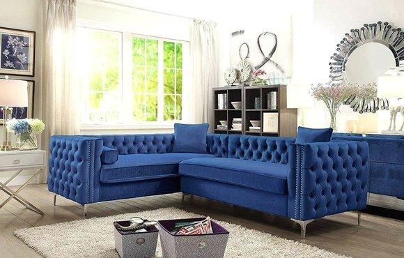 Ecksofa Chesterfield Textil Samt Polster Sofa Couch Sitz Eck Garnitur Stoff Neu
