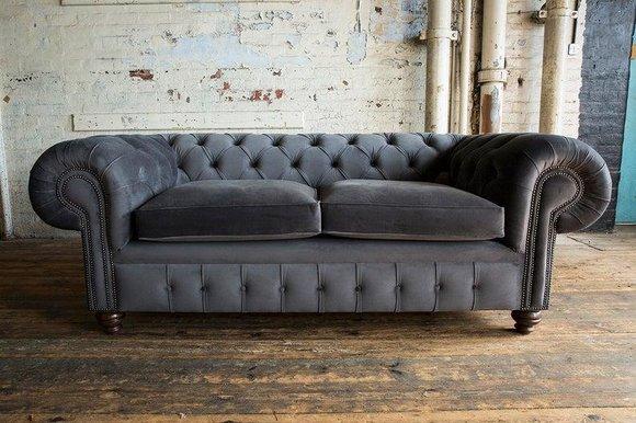Cheserfield Samt Sofa 3 Sitzer Designer Couchen Couch ...
