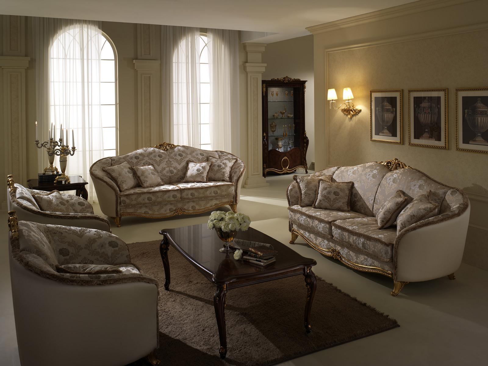 Luxus Klasse 3+1+1 Italienische Möbel Sofagarnitur Couch Sofa Neu arredoclassic™