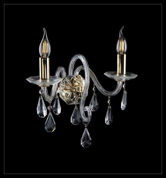 Wandleuchte Bohemia Luster Wandlampe Antik Stil Kronleuchter Wand Lampen Neu