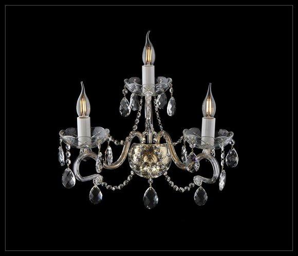 Wandleuchte Wand Lampe Leuchte Lampen Bohemia Kristall Kronleuchter Leuchten