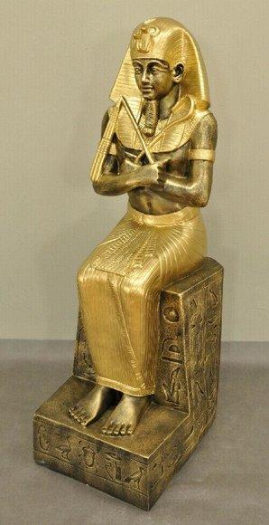 Design Ägyptischer Figur Ramses XXL Statue Skulptur Skulpturen Dekoration SOFORT