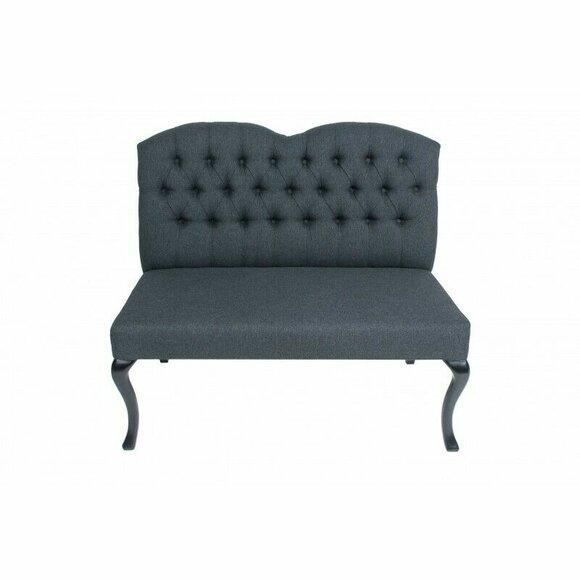 Chesterfield Bank Textil Sitz Bänke Restaurant Stoff Laden Sofa Leder Couch Neu