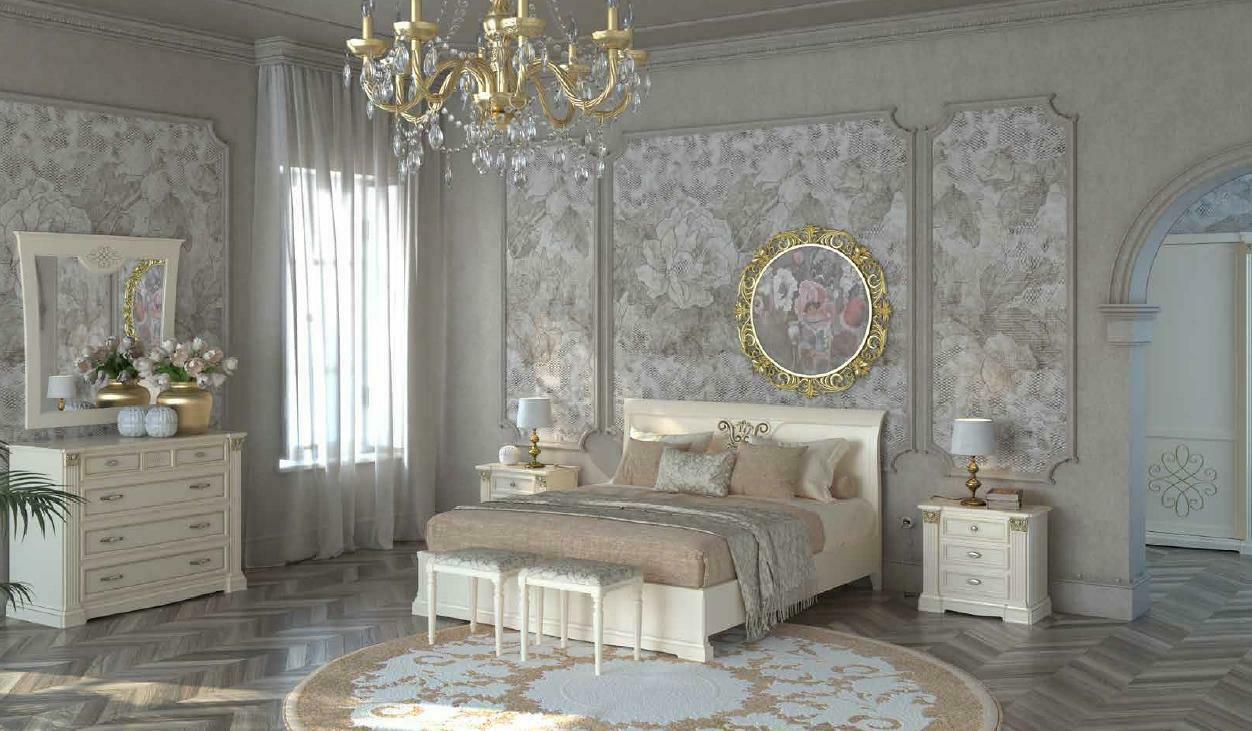 Bett Nachttisch Kommode 7 tlg. Schlafzimmer Set Design Luxus Schlafzimmer Neu