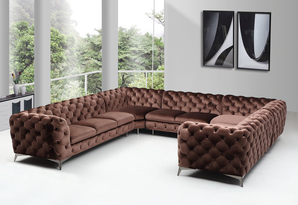 Designer Chesterfield Ecksofa Sofa Couch Polster U Form ...