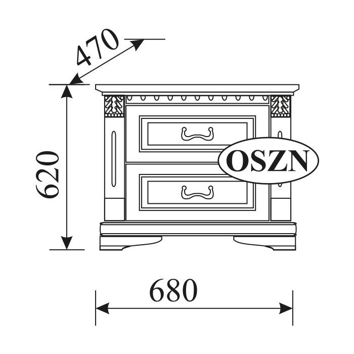 2x Set Klassische Nachttische Nachttisch Nachkonsolen Tisch Massiv Holz OSZN