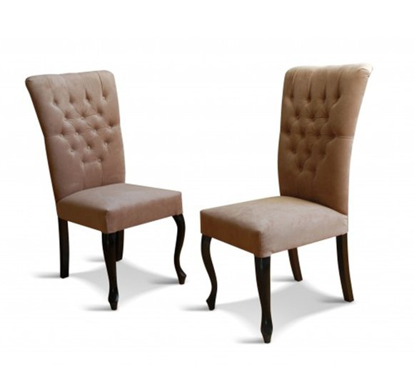 Chesterfield Stuhl Sessel Leder Textil Stoff Stuhle Echtes Holz Valentine 108
