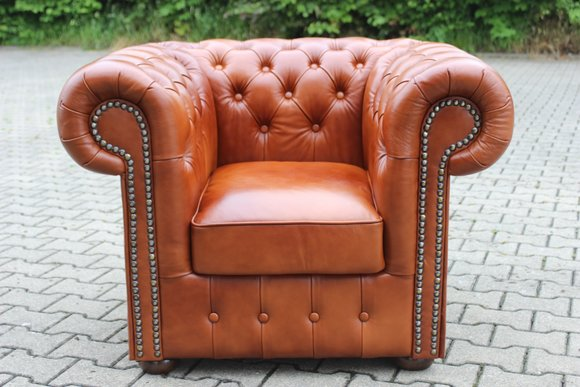 Sofagarnitur 1 Chesterfield Sessel Sofa Couch Ledersofa Garnitur Neu Sofort lieferbar NAPOLI SESSEL