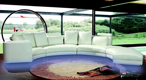 Moderne Rund Couch Wohnlandschaft Runde Sofa Polster Eck Garnitur Xxl Big Sofas